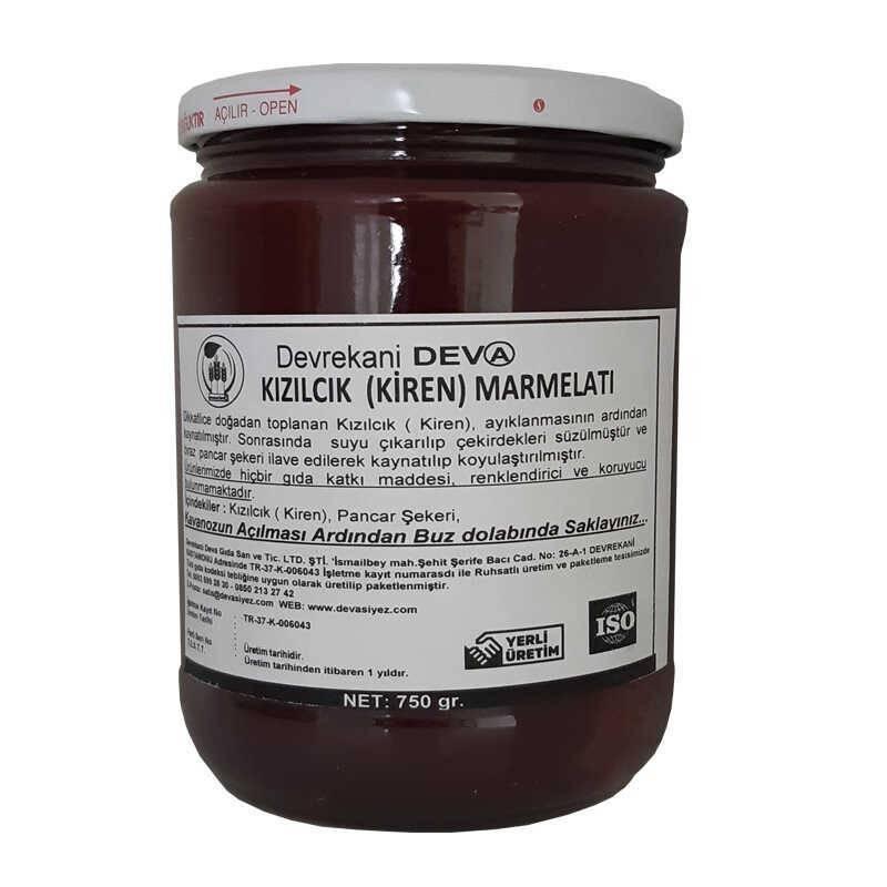 Devrekani Deva Kızılcık Marmelatı 750g Kastamonu Depo 36,50 TL